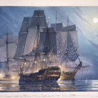 BonHomme Richard and HMS Serapis raked by Alliance – 10 pm Sept. 23, 1779