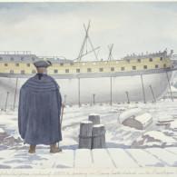 The 74-gun ship AMERICA – Hacket's Yard, 1782.